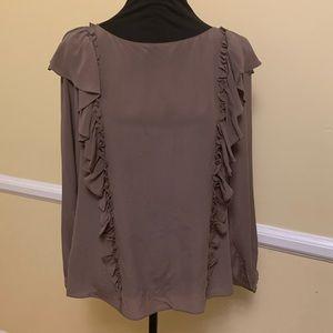 Frye Long Sleeve Harper 100% Silk Blouse NWT